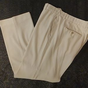Tommy Bahama Silk/Cotton Pants in Eggshell White.